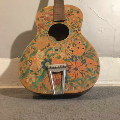 Jackson Guldan Hippie Artwork Guitar Hippie Flower Custom artwork for sale