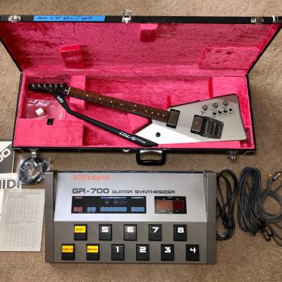 Rare Roland GR-700 & G-707 Roland Guitar, Synth Set Original Box & Manuals for sale