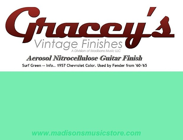 Surf Green Gracey S Vintage Finishes Nitrocellulose Reverb