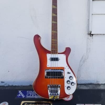 Vintage 1982 Rickenbacker 4003 Fire Glo Bass Guitar w/Case for sale