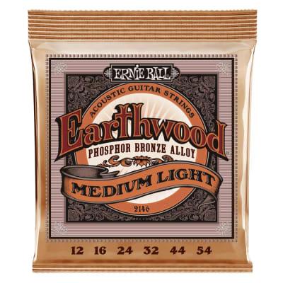 Ernie Ball 2146 Earthwood Medium Light Phosphor Bronze Acoustic Guitar Strings