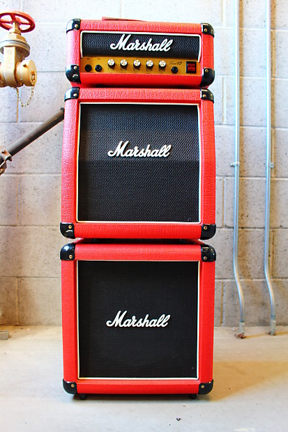 marshall 3005 lead 12 mini stack red tolex made in uk reverb. Black Bedroom Furniture Sets. Home Design Ideas