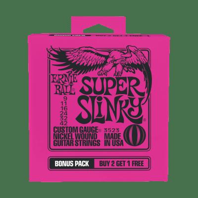 Ernie Ball P03523 Super Slinky Nickel Wound Electric Guitar Strings Bonus Pack
