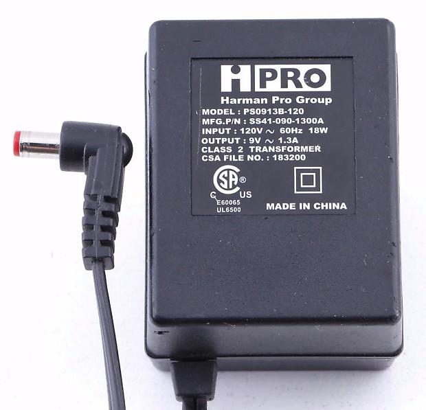 Hpro Harman Pro Ps0913b 120 Power Supply 9v Ac 1300 Ma