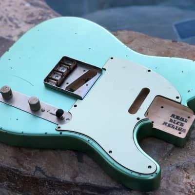 Real Life Relics Custom Tele Telecaster Body Irish Mist Green Metallic Aged