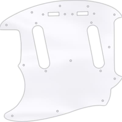 WD Custom Pickguard For Left Hand Fender 1964-1982 Mustang #45 Clear Acrylic