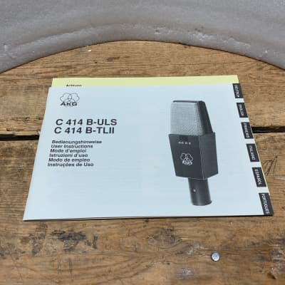 AKG  C414 B- ULS/C414 TLll VINTAGE MICROPHONE MANUAL- CLASSIC/ORIGINAL!! MINT!!