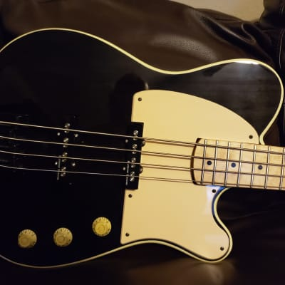 Moniker Dixie Custom Built Telecaster Bass  2017 Black Translucent for sale