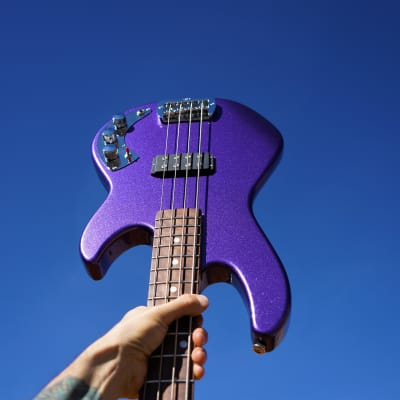 G&L USA CLF RESEARCH L-1000 Royal Purple 4-String Bass w/Case for sale