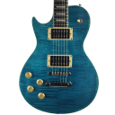 Sawtooth Heritage 60 Series Left Handed Flame Maple Top Electric Guitar, Cali Blue Flame