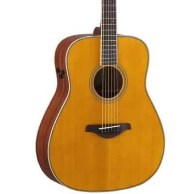 Yamaha FG-TA Dreadnought Transacoustic Acoustic-Electric Guitar, Vintage Tint