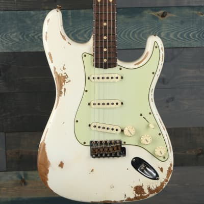Fender Custom Shop 1960 Stratocaster Heavy Relic, Rosewood FB Aged Olympic White for sale