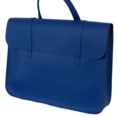 Leather Music Case - Royal Blue for sale
