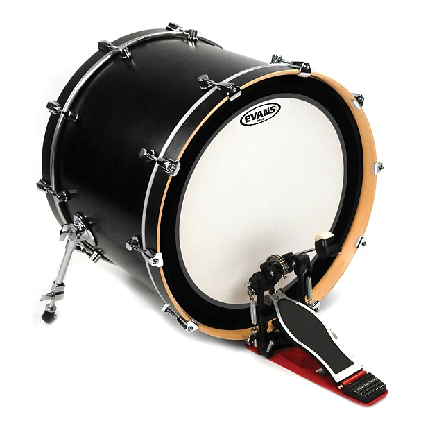 evans emad coated white bass drum head 18 inch reverb. Black Bedroom Furniture Sets. Home Design Ideas