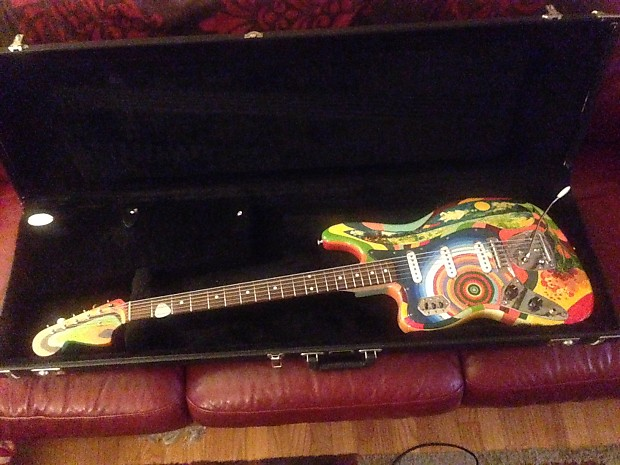 USA Custom Guitars Jack Bruce Fool Bass VI replica clone 2008 Psychedelic  Left Handed