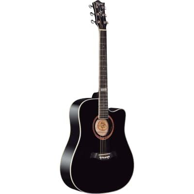 Tagima Guitars America Series Kansas Acoustic Guitar, Black for sale