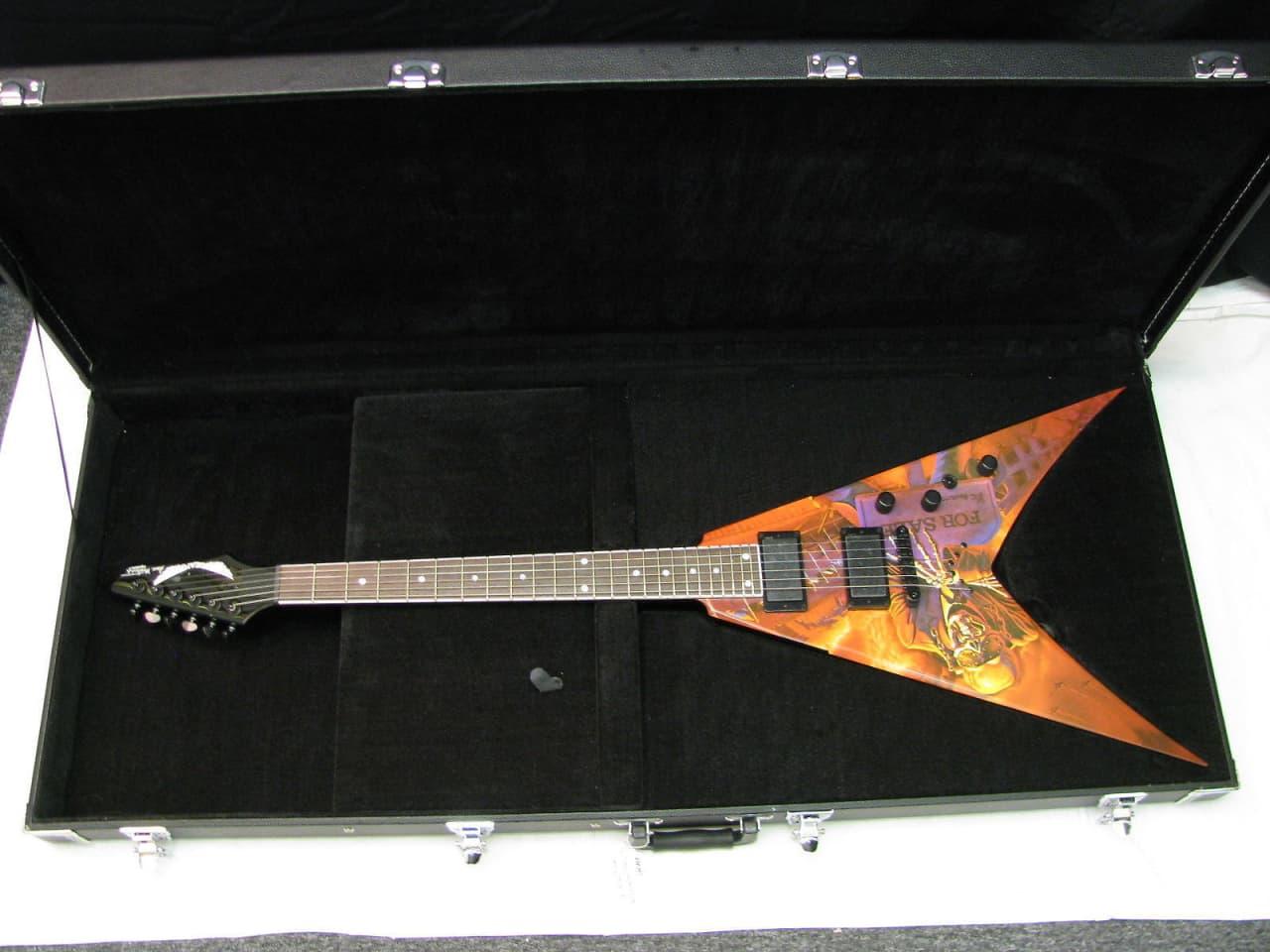 dean dave mustaine vmnt v electric guitar peace shells reverb. Black Bedroom Furniture Sets. Home Design Ideas