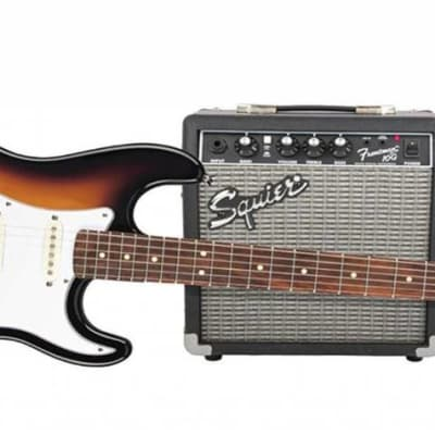 Squier Stratocaster Pack SSS Brown Sunburst w/ Gig Bag and Frontman 10G for sale