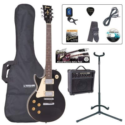 ENCORE LEFT HAND ELECTRIC GUITAR OUTFIT- GLOSS BLACK for sale