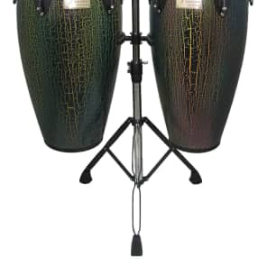 Tycoon Percussion : 10 & 11 Dark Iris Supremo Select Congas With Double Stand