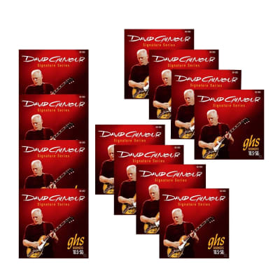 12-Pack GHS David Gilmour Signature Series Electric Guitar Strings Red Set (10.5-50)