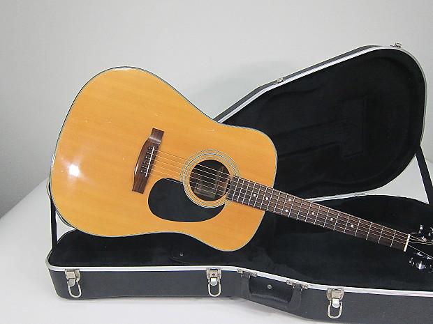 Vintage 1970s Martin Sigma Dm 2 Dreadnaught Acoustic Guitar Reverb