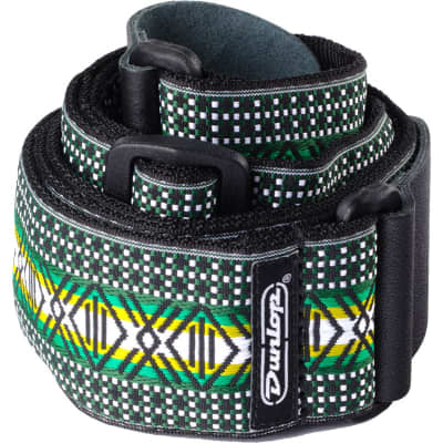 Dunlop D67 Jaquard Strap, Matrix Green for sale