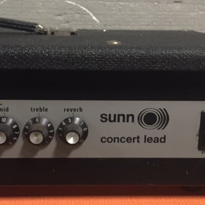 Sunn Concert Lead Early 70s Silver Face for sale