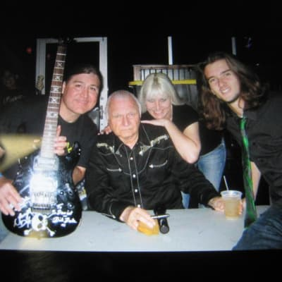 Squier Showmaster Signed by Dick Dale Family for sale