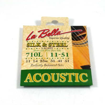 La Bella Guitar Strings  Silk & Steel Light 100% 11-51 Balanced Fingerpicker