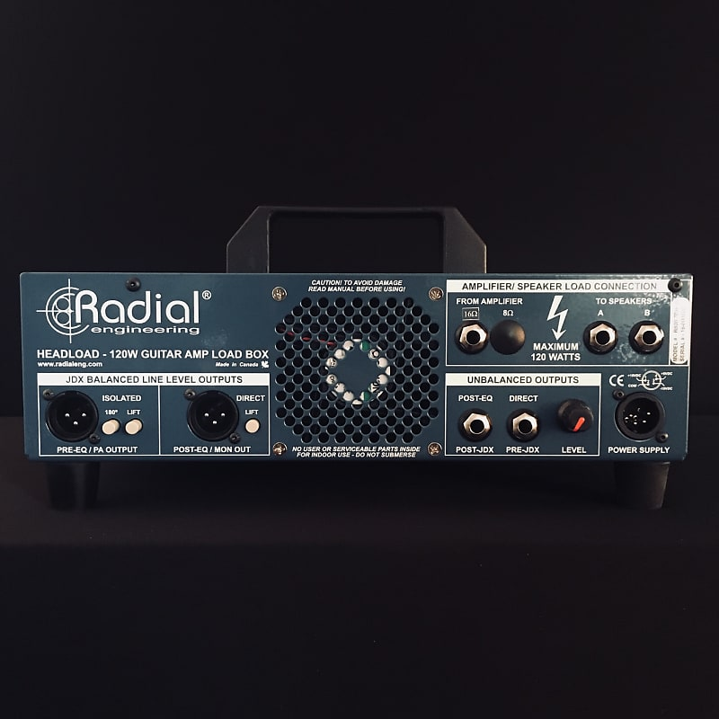 radial headload 16 ohm load box attenuator cabinet reverb. Black Bedroom Furniture Sets. Home Design Ideas