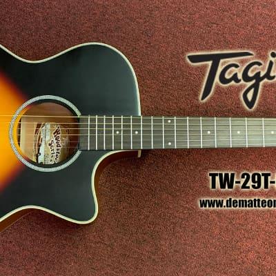 Tagima TW-29T-EQDS Acoustic/Electric Guitar Color: Drop Sunburst for sale