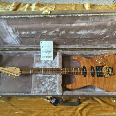 Tom Anderson Guitarworks Grand Am 1991 Natural Pacific Coast Maple-Kahler Steeler-Hardshell Case VGC for sale