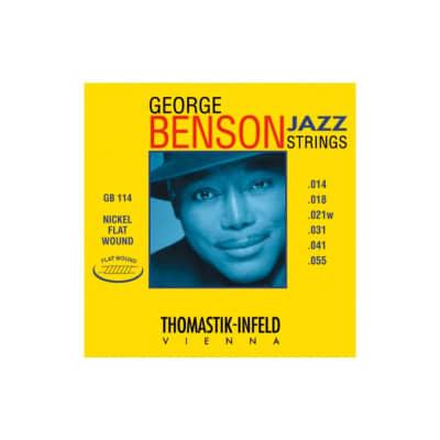 Thomastik George Benson Flatwound Electric Strings GB114 14-55