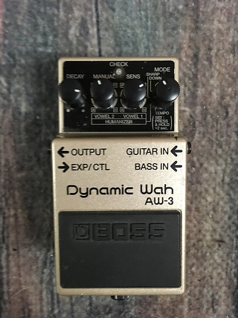used boss aw 3 dynamic wah pedal with box reverb. Black Bedroom Furniture Sets. Home Design Ideas