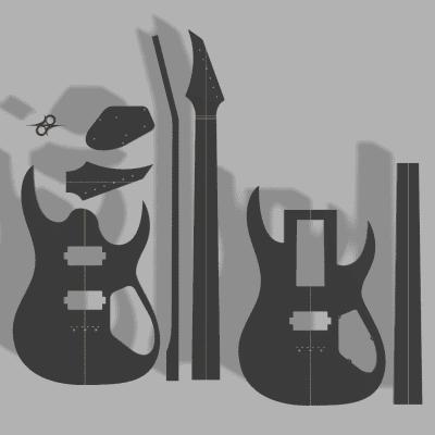 Solar A2.6 Guitar Template MDF 0.50