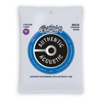 Martin Authentic Acoustic Strings Phosphor Bronze Custom Light 11-52 MA535