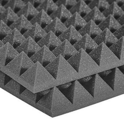 "Auralex 2PYR22CHA-HP StudioFoam Pyramid Panels - 24x24x2"" (12)"