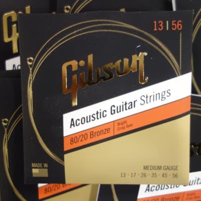 Gibson SAG-BRW13-1 Acoustic Guitar Strings 13-56 Bronze ( 10 sets )