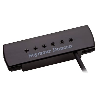 Seymour Duncan Woody XL Adjustable Pole Pieces Soundhole Pickup Black  2-Day Delivery