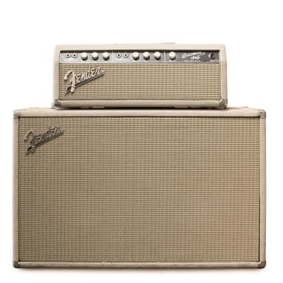 """Fender Bassman 6G6-B Brownface 50-Watt 2x12"""" Piggyback Guitar Amp 1963 - 1964"""