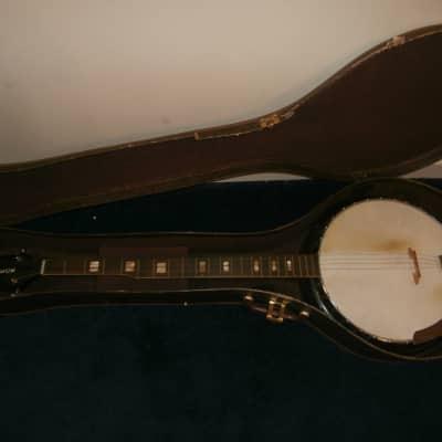 Vintage 1950's Harmony Roy Smeck 5-String Banjo Project w/ Original Case! for sale
