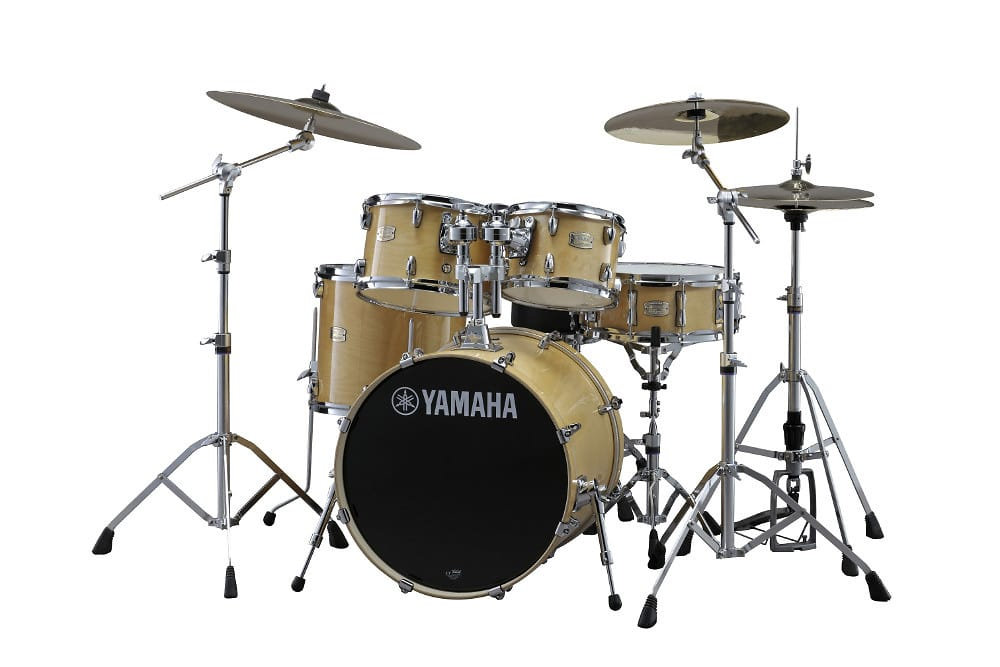 Yamaha sbp2f57 5 piece stage custom birch shell pack with for Yamaha stage custom steel snare drum 14x6 5