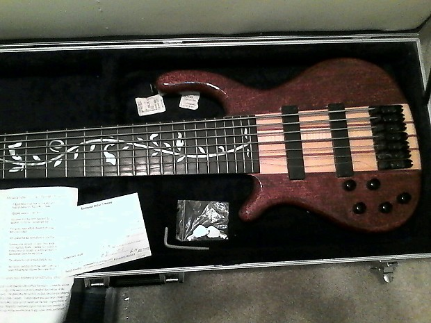 Raven West RWG 7 String Bassleft Handed Awesome Pearl