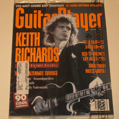 1992 Guitar Player Rolling Stones Pearl Jam Peter Gabriel Sonic Youth Buckethead My Bloody Valentine