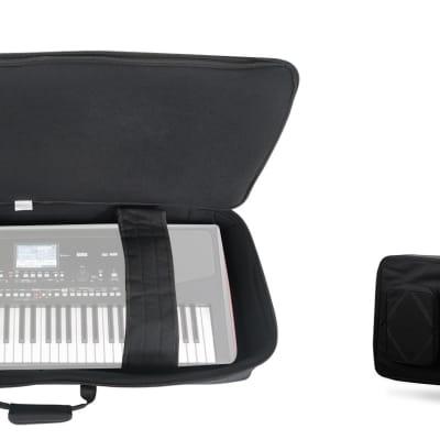 Rockville 61 Key Padded Rigid Durable Keyboard Gig Bag Case For KORG Pa300
