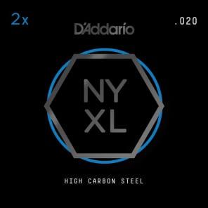 D'Addario NYXL 2-Pack Plain Steel Guitar Strings .020
