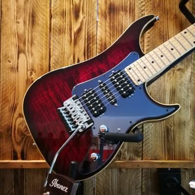 Vigier Excalibur Custom HSH 6-String Guitar Deep Burgundy +  Hardcase for sale