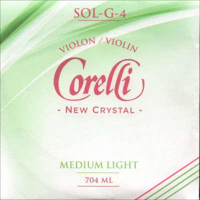Corelli Corelli Crystal 4/4 Violin G String - Silver/Stabilon - Thin(light-medium) Gauge