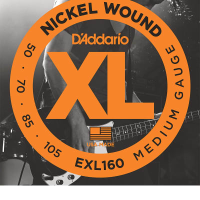 D'Addario EXL160 Medium Nickel Wound Long Scale Bass Strings - .050-.105
